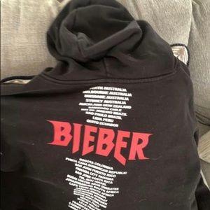 justin bieber stadium world tour cropped hoodie